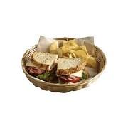 Tablecraft 10'' Round Natural Handmade Sandwich Baskets