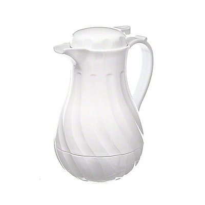 Update International 42 oz White Swirl Carafe 415005