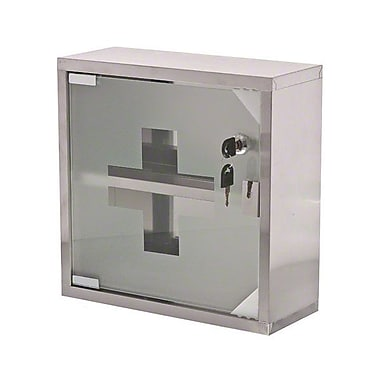 Update International MC-125S Stainless Steel, Locking First Aid Cabinet