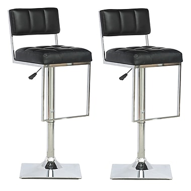 CorLiving Square Tufted Adjustable Bar Stools: Comfort and Style