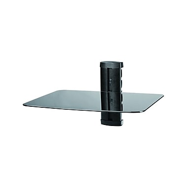 TygerClaw Single Layer DVD Stand with Black Coloured Glass, (LCD8216BLK)