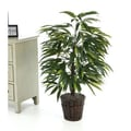 Vickerman Deluxe 4' Artificial Potted Natural Mango Tree in Green