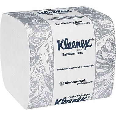 Kleenex® - Papier hygiénique à 2 épaisseurs, 4,5 po x 8,3 po, blanc