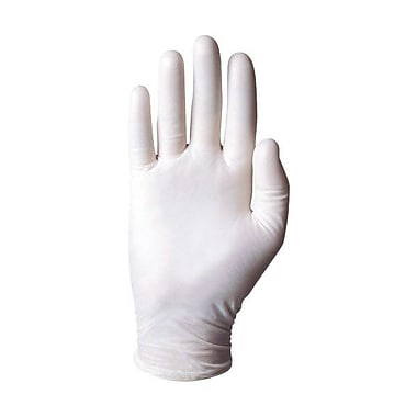 Ansell Rolled Cuff Vinyl Powdered Disposable Gloves, Clear, Medium