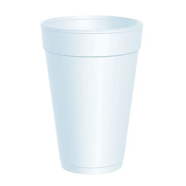 Dart® Customizable Drink Foam Cup, 16 oz. White