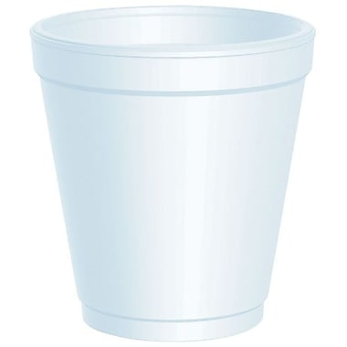 DartMD – Gobelet trapu en mousse personnalisable, 10 oz, blanc