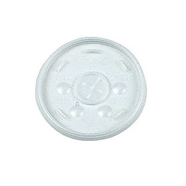 Dart® Polyethylene Straw Slot Lid For 16 oz., Translucent