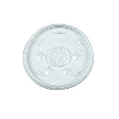 DartMD – Couvercle en polyéthylène à fente pour paille pour gobelet de 16 oz, translucide