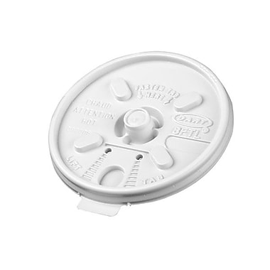 Dart® Plastic Lift n' Lock Lid For 8 oz. Cups, White