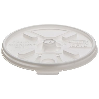 Dart® Lift N Lock Lid For Foam Cups and Containers, White