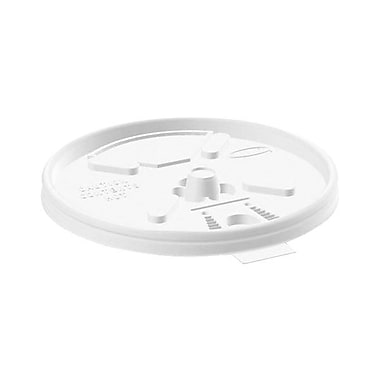 Dart® Reclosable Lift N Lock Lid For Foam Cups and Containers, White