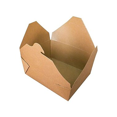Fold-Pak Bioplus #8 Recyclable Paperboard Earth Design Food Container