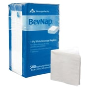 "Georgia Pacific BevNap® 1-Ply 9.5"" x 9.5"" Beverage Napkin, White, 500 Sheets"