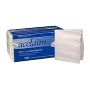 Georgia Pacific Acclaim® 1-Ply 1/4 Fold Luncheon Napkins, White, 500 Sheets