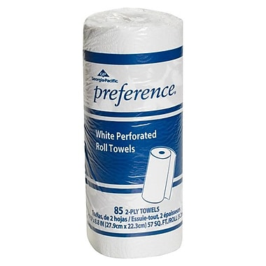 Georgia Pacific Preference® 2-Ply Perforated Towel Roll, White