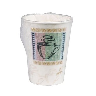Dixie® PerfecTouch® Insulated Paper Wrapped Hot Cup, 8 oz.