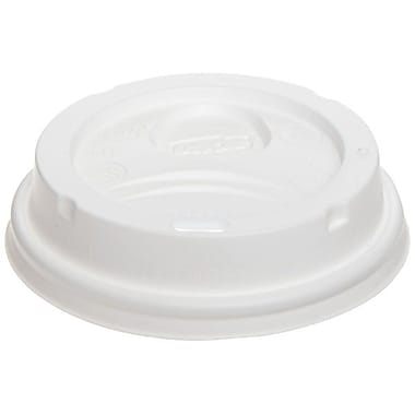 Dixie® Plastic Dome Lid For 8 oz. Cups, White