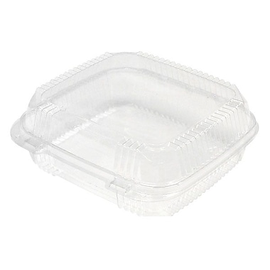 Pactiv Clear View 1 Compartment Medium Hinged Lid Container