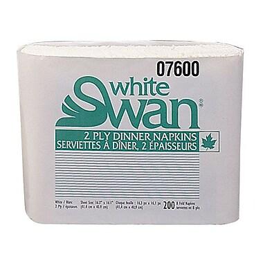 Kruger White Swan® 2-Ply 1/8 Fold Dinner Napkin, White