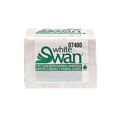 White Swan® 1-Ply 4 Fold Premium Luncheon Napkins, White, 250 Sheets