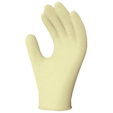 Ronco Gold-Touch® Lightly Powdered Synthetic Stretch Examination Gloves, Tan, Small
