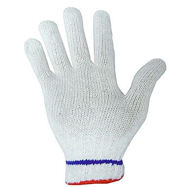 Ronco Poly/Cotton String Knit Gloves, Natural, Large