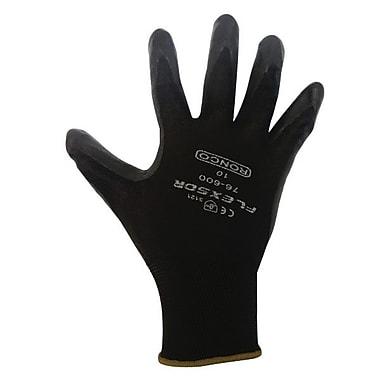 Ronco Flexsor™ Foam Nitrile Palm Coated Nylon Gloves, Black, Small
