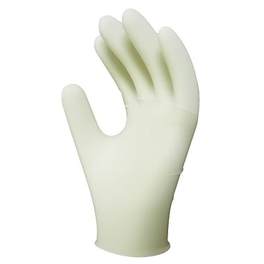 Ronco Powder-Free Disposable Latex Gloves, Natural, Large