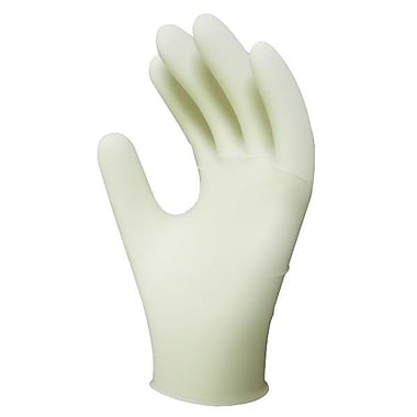 Ronco Powder-Free Disposable Latex Gloves, Natural, Small