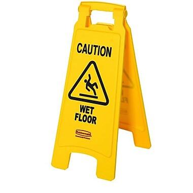 Rubbermaid® Wet Floor Caution Sign, Yellow