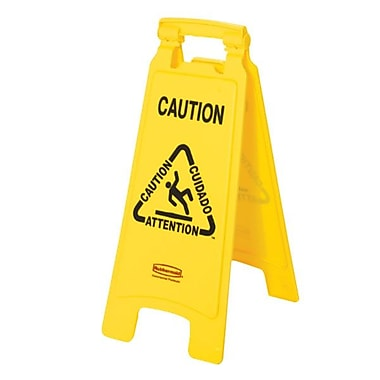 Rubbermaid® Wet Floor Safety Caution Sign, Yellow