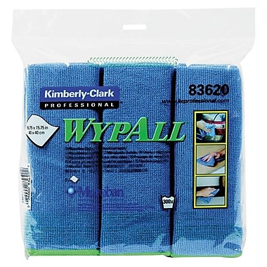 WYPALL Microfiber Cloth With Microban Protection, Blue