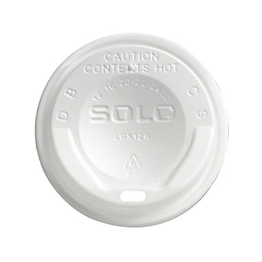 Solo® Gourmet Lid® Hot Cup Lid For Trophy® Plus™, White