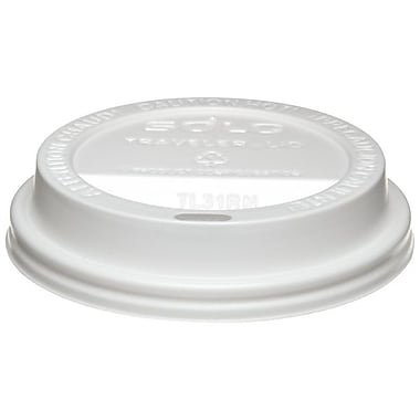 Solo® Traveller® Polystyrene Dome Hot Drink Lid, White