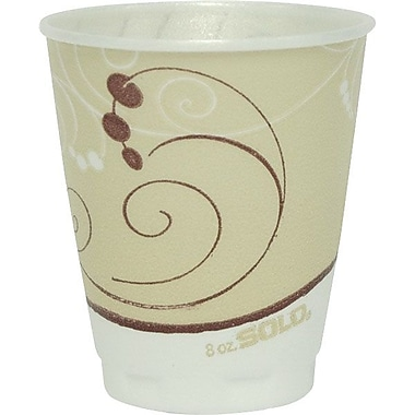 Solo® Dual Temperature Insulated Foam Cup, 8 oz., Symphony