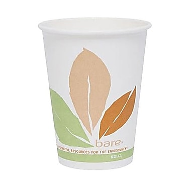 Solo® Eco Forward® PLA Post Consumer Fiber Paper Hot Cup, 8 oz., Bare