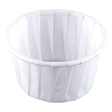 Solo® Treated Paper Souffle Portion Cup, 1.25 oz., White