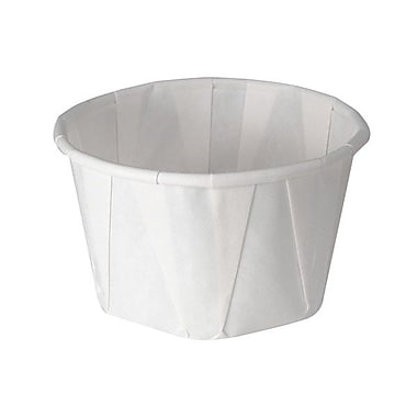 Solo® Treated Paper Souffle Portion Cup, 3.25 oz., White
