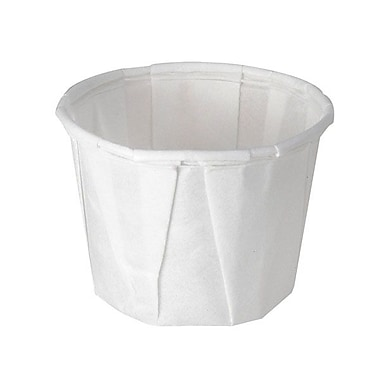 Solo® Treated Paper Souffle Portion Cup, 0.5 oz., White