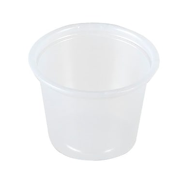 Solo® Polystyrene Plastic Souffle Portion Cup, 1 oz., Translucent