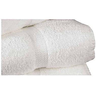 Standard Textile Dobby Border Cotton Bath Towel, White, 25