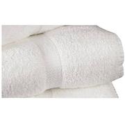 Standard Textile – Serviette de bain avec bordure en coton armuré, blanc, 25 po x 52 po