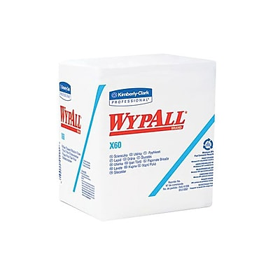 Kimberly-Clark ProfessionalMD – Débarbouillettes WYPALL X60, blanc, paquet/12