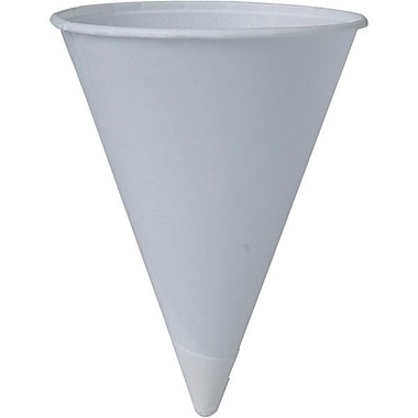 Solo® Eco Forward® Treated Paper Cone Water Cup, 4 oz., White