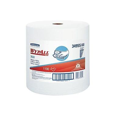 WYPAL – Essuie-tout X60 renforcés en rouleau géant, 12,5 x 13,4 po, blanc