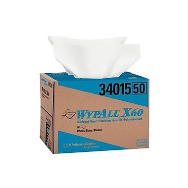 WYPALL – Essuie-tout renforcé X60, 12,5 x 16,8 (po), blanc