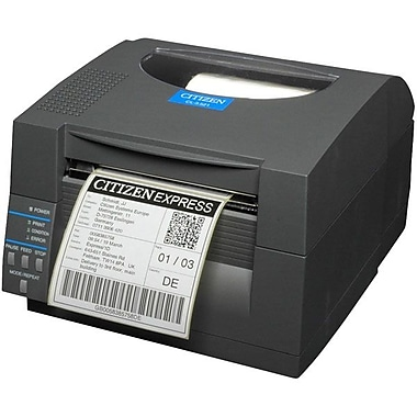 Citizen CL-S521 Direct Thermal Monochrome Barcode Label Printer With Ethernet And Cutter, 203 dpi, 6mm/sec