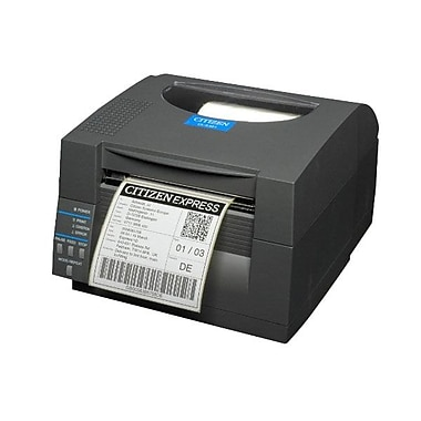 Citizen CL-S521 Direct Thermal Monochrome Barcode Label Printer With Peeler, 203 dpi, 4 ips