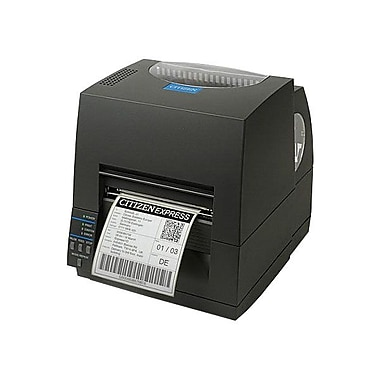 Citizen CL-S521 Direct/Thermal Transfer Label Printer With Ethernet Cutter And Peeler, 203 dpi, 4 ips