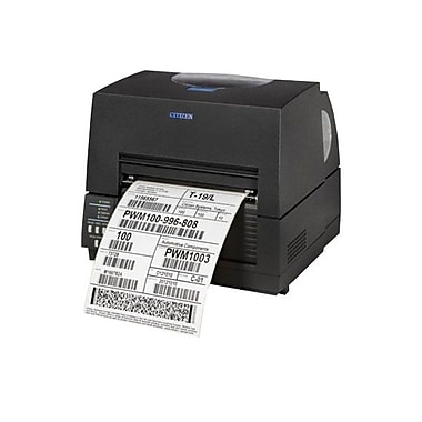 Citizen CL-S521 Direct/Thermal Transfer Barcode Label Printer With Ethernet Cutter, 203 dpi, 4 ips